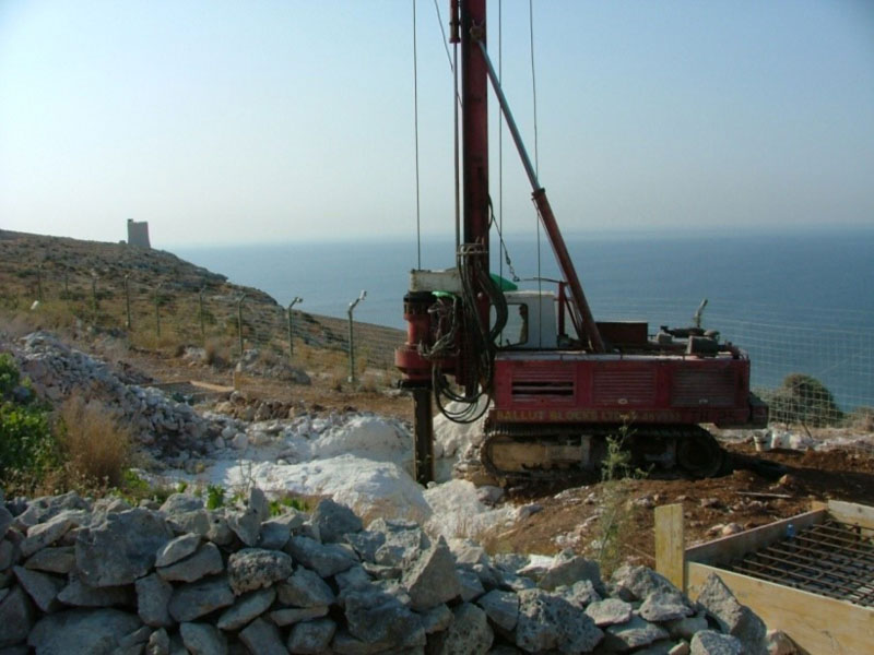 Pile Drilling for arch foundations